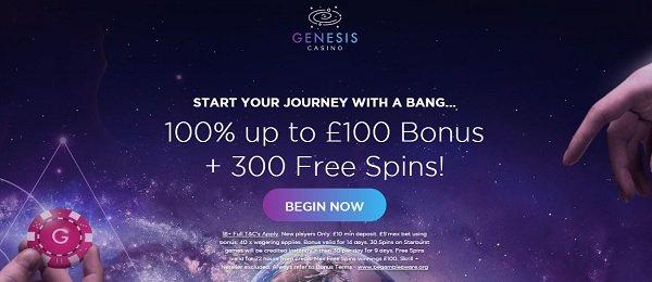 2020 genesis casino review 100% first deposit bonus