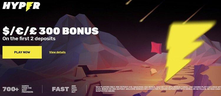 Hyper Casino bonus code