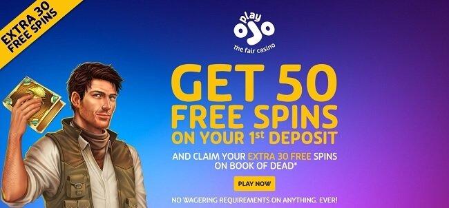 PlayOJO casino Free Spins bonus offer